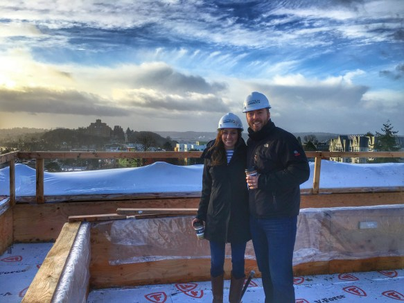 Jake and Kaitlin Decibel Rooftop during Construction