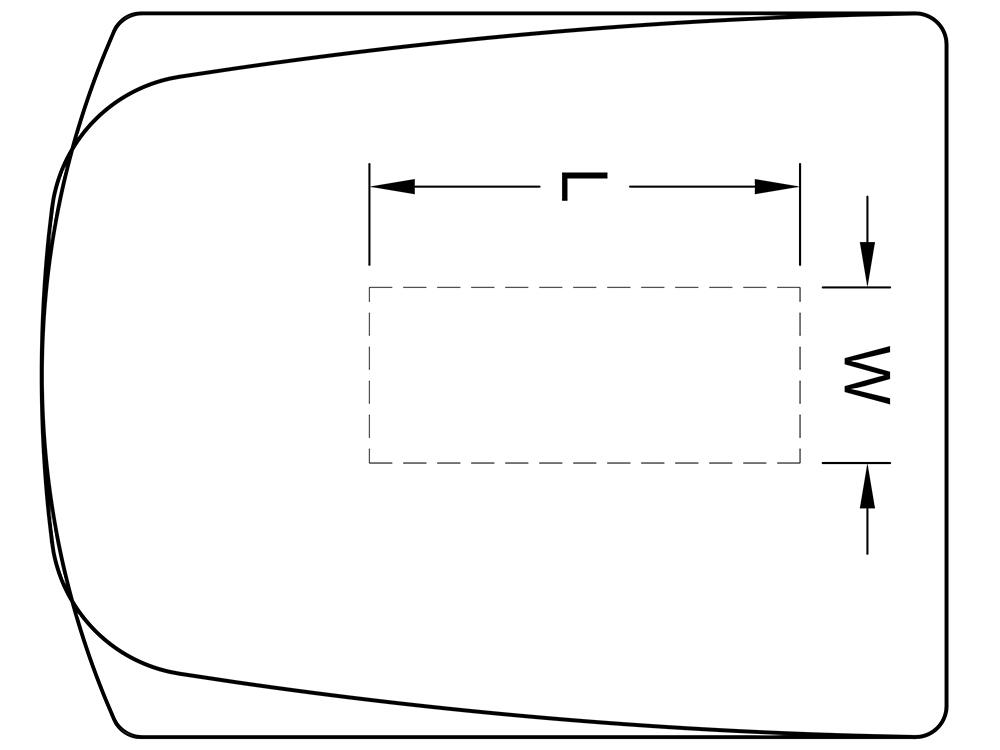 Table worksurface standard technology cutouts