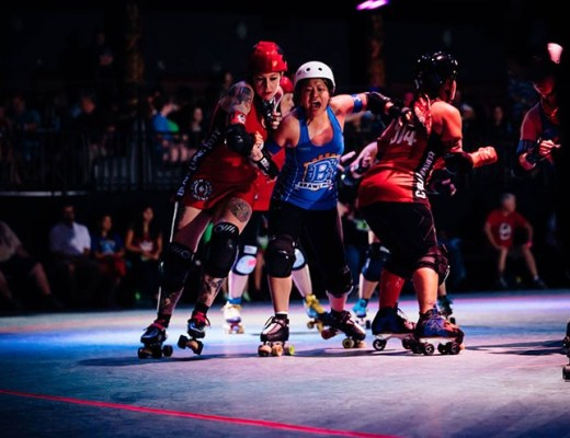 Houston Roller Derby teams the Brawlers take on the Psych Ward Sirens at Revention Music Center.