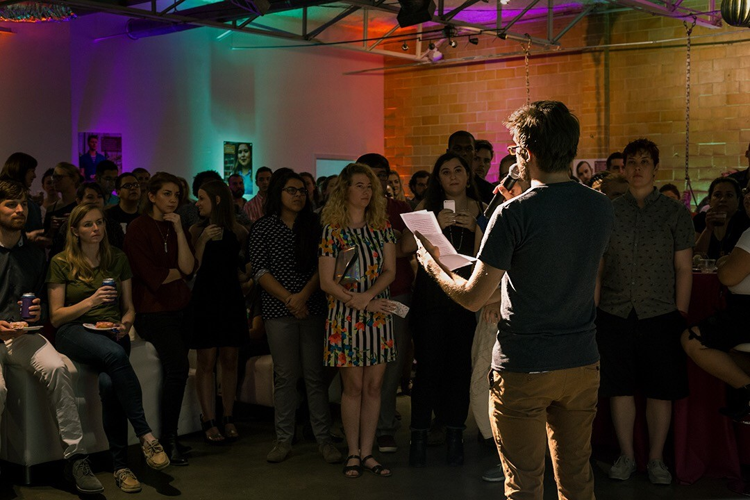 A photo of Spectrum South's official launch party.