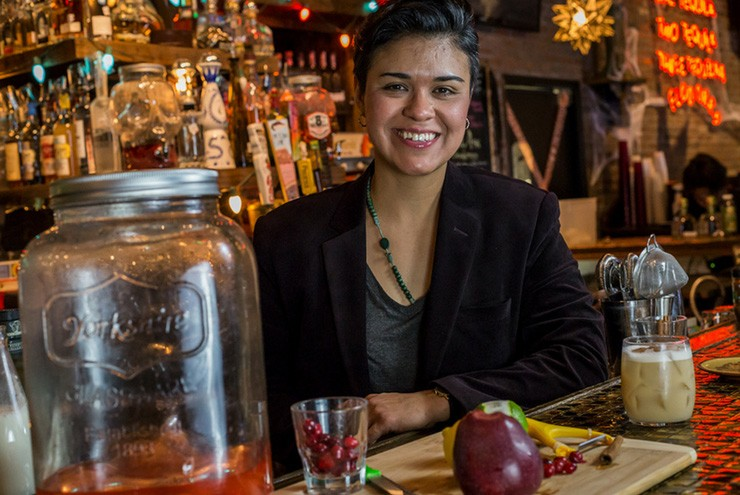A photo of bartender Jojo Martinez.
