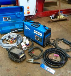 miller dynasty ac dc 200 tig welding machine with foot pedal [ 3264 x 2448 Pixel ]