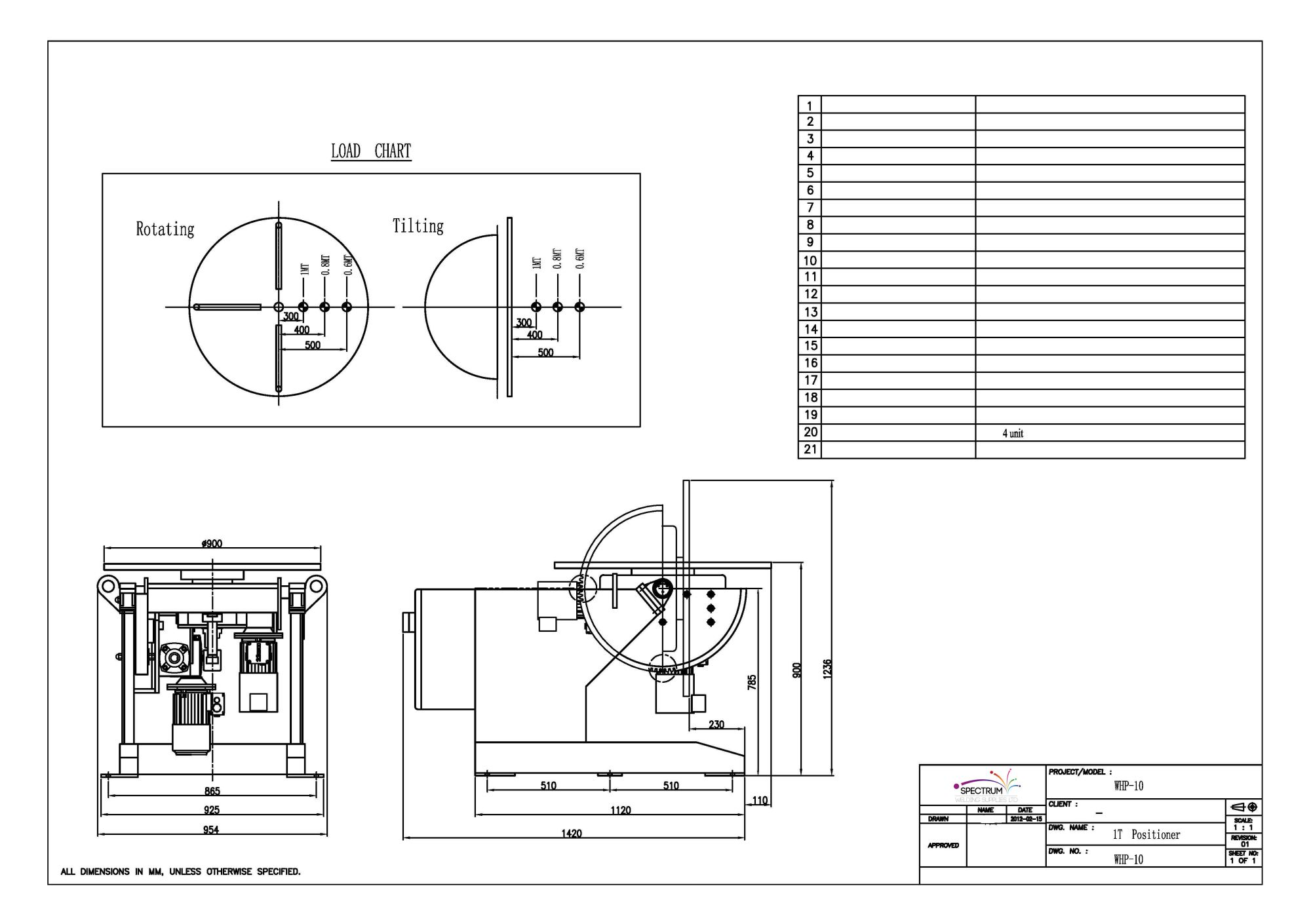 hight resolution of specifications