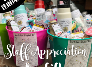 Inexpensive staff paraprofessional appreciation pun gifts with free printables