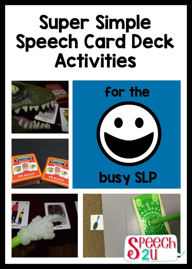 Super Simple Speech Therapy Card Deck Activities