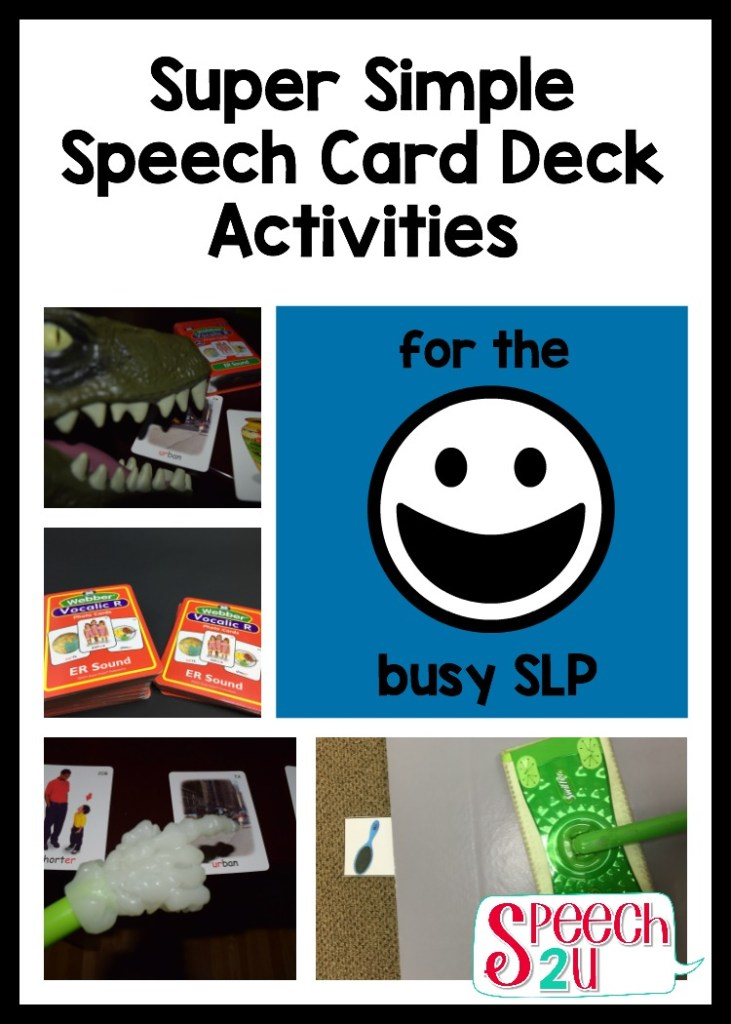 speech therapy card deck