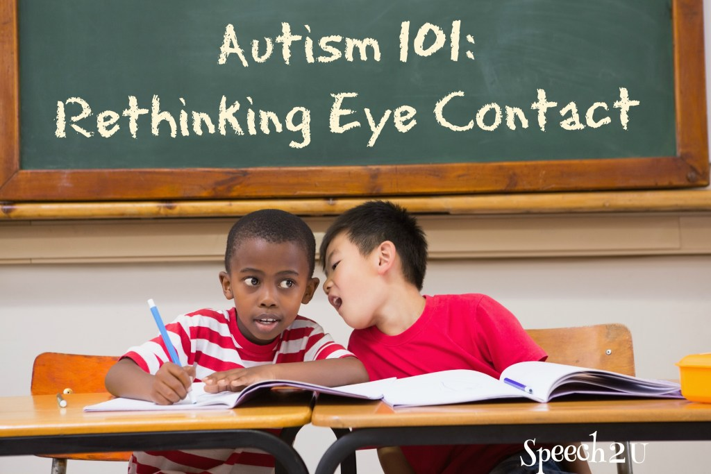 Autism Awareness Month: Eye contact