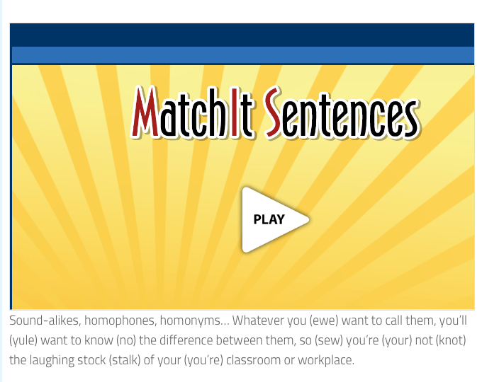 Resources for Multiple Meaning Words