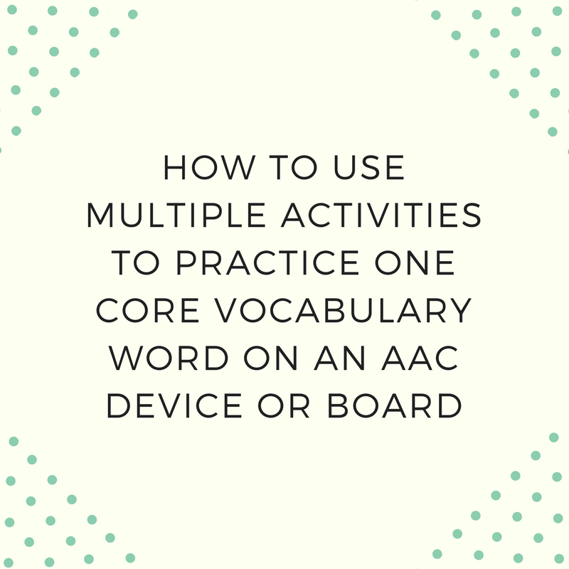 How to Use Multiple Activities to Practice One Core