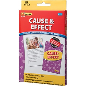 Comprehension Practice Cards: Cause & Effect (Reading Level 1.0-2.0)-0