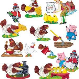 Little Red Hen - Flannel Board Stories-0