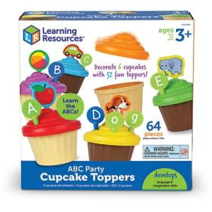 ABC Party Cupcake Toppers-0