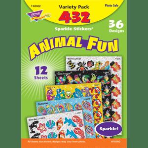 Animal Fun - Sparkle Stickers (432 stickers, 36 designs)-0