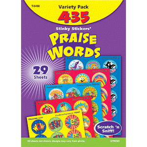 Praise Words - Stinky Stickers (648 stickers, 56 designs)-0