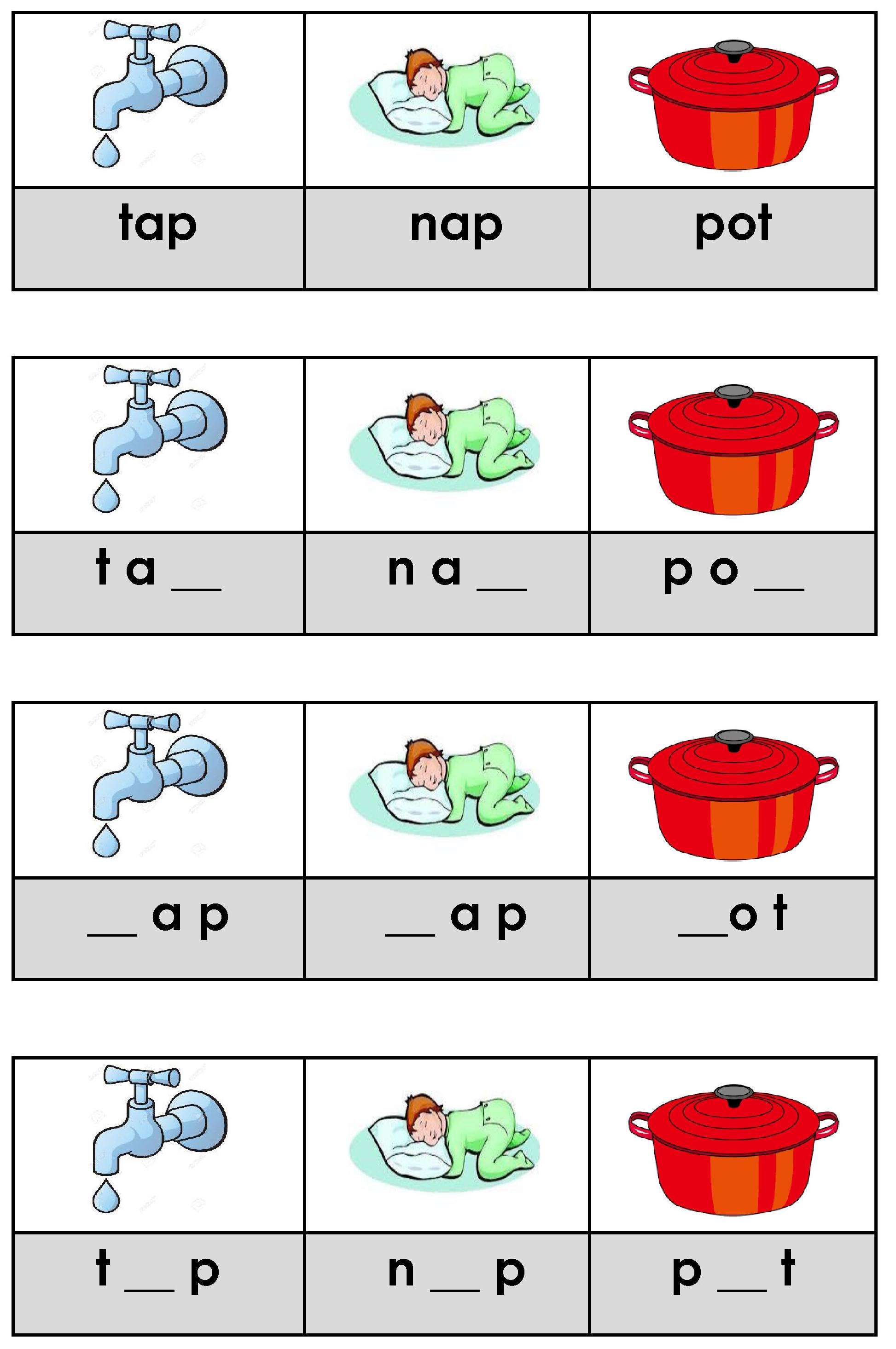 Phonics Activities Cvc Words
