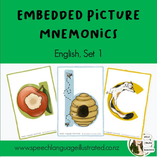 Embedded picture mnemonics