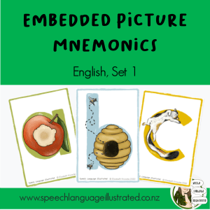 Embedded Picture Mnemonics, English Set 1