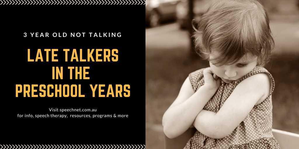3 year old not talking | SpeechNet Speech Pathology