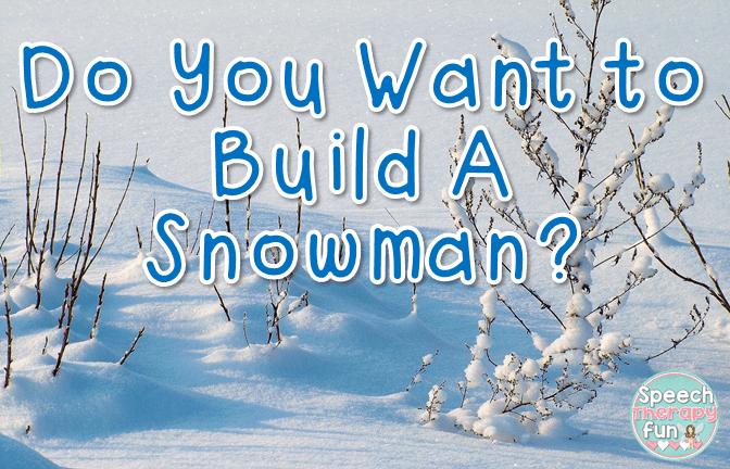 Speech Therapy Fun: Snowman Craftivity