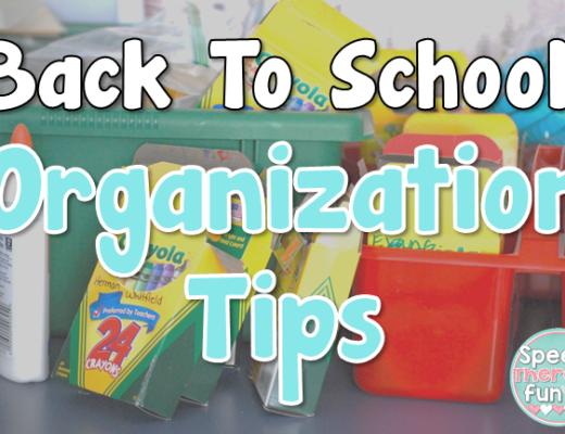 Speech Therapy Fun: Organization Tips