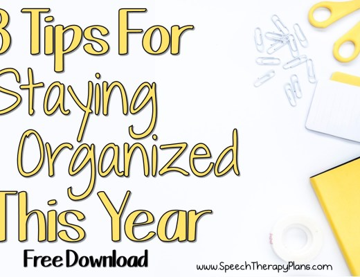 Speech Therapy Plans: Staying Organized