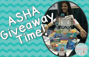 Speech Therapy Fun: ASHA Giveaway