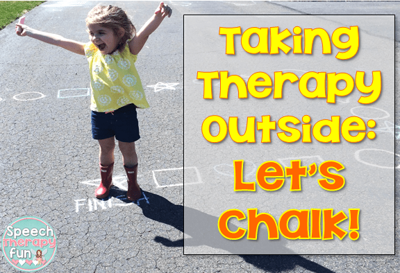 Speech Therapy Fun: Taking Therapy Outside