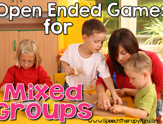 Speech Therapy Fun: Open Ended Games for Mixed Groups