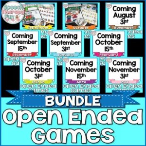 Speech Therapy Fun: Open Ended Games
