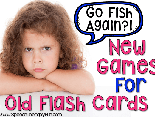 Speech Therapy Fun: New Games for Old Flash Cards