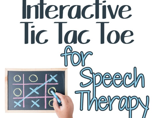Speech Therapy Plans - Tic Tac Toe
