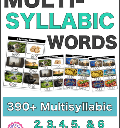 430+ Free Multisyllabic Words List Activity Bundle - Speech Therapy Store [ 1024 x 771 Pixel ]