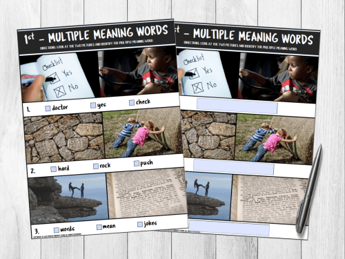 small resolution of 193+ Multiple Meaning Words Grouped by Grade + Free Worksheets - Speech  Therapy Store