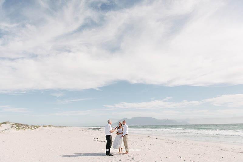 Unsere Hochzeit am Bloubergstrand