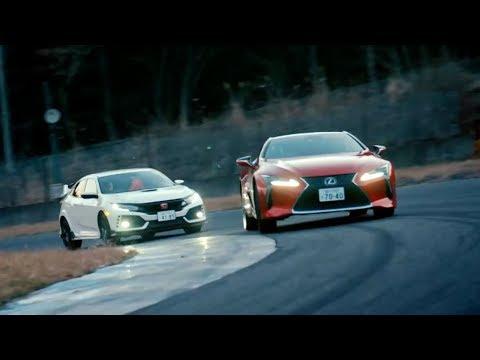 Chris Harris races the Honda Civic Type R vs Lexus LC500 | Top Gear: Series 25 | BBC