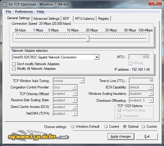tcp optimizer 3.0.8