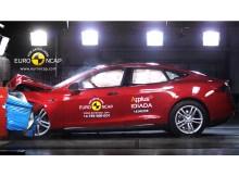 Tesla model S NCAP Crash test