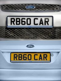 PAIR of Ford Number Plate Surround Holder Richbrook Black ...