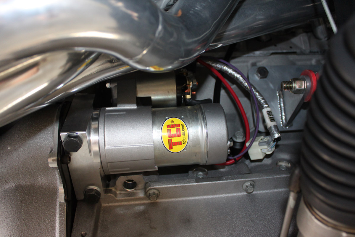 hight resolution of starter wiring in a race
