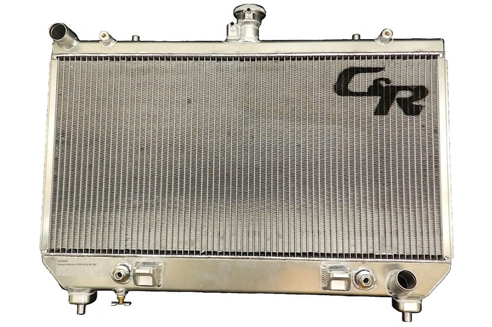 medium resolution of c r racing 2010 2012 camaro ss dual core aluminum oe fit radiator