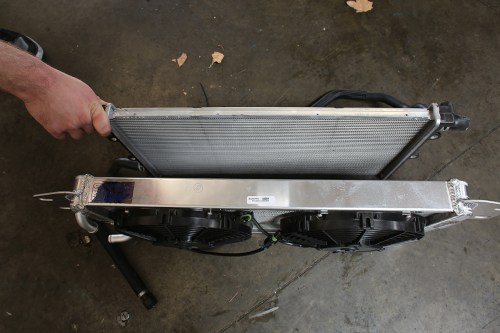 small resolution of check out the sheer size difference between an oem 5th gen zl1 camaro radiator and an afco heat exchanger module