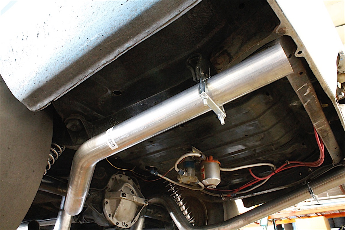 hight resolution of but for lower horsepower cars this restricted exhaust system provides the necessary back pressure for the engine put a straight piped system on a