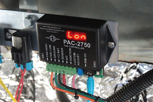 small resolution of we found a suitable mounting location for the pac 2750 fan controller and connected all the wires per the instructions we utilized the existing fan relays