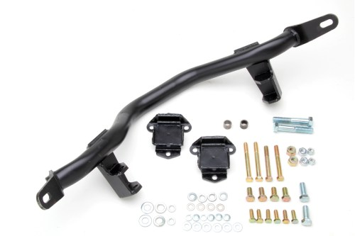 small resolution of new from trans dapt a v8 swap crossmember kit for yj wranglers this kit is a true bolt in product and will easily accommodate gm s small block and