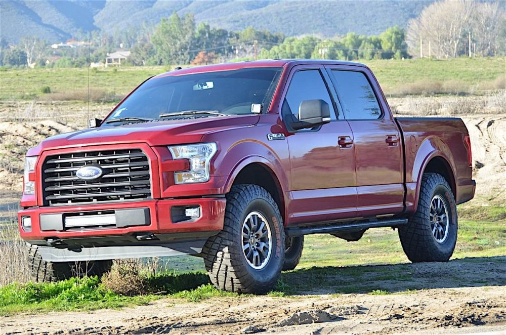 medium resolution of we would be doing the install on matt gallaher s 2016 ford f 150 that recently had a leveling kit wheels and tires installed