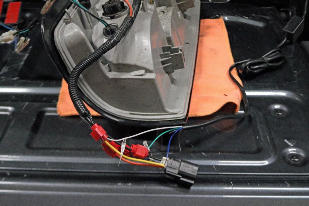 medium resolution of wiring was simple it connected directly into the taillight wiring