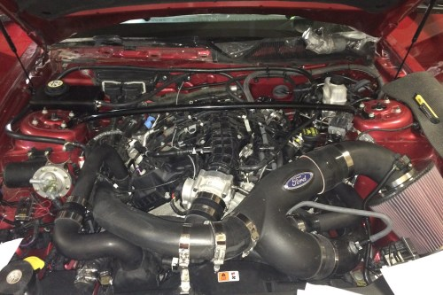 small resolution of the new ecoboost engine all buttoned up and ready for tuning