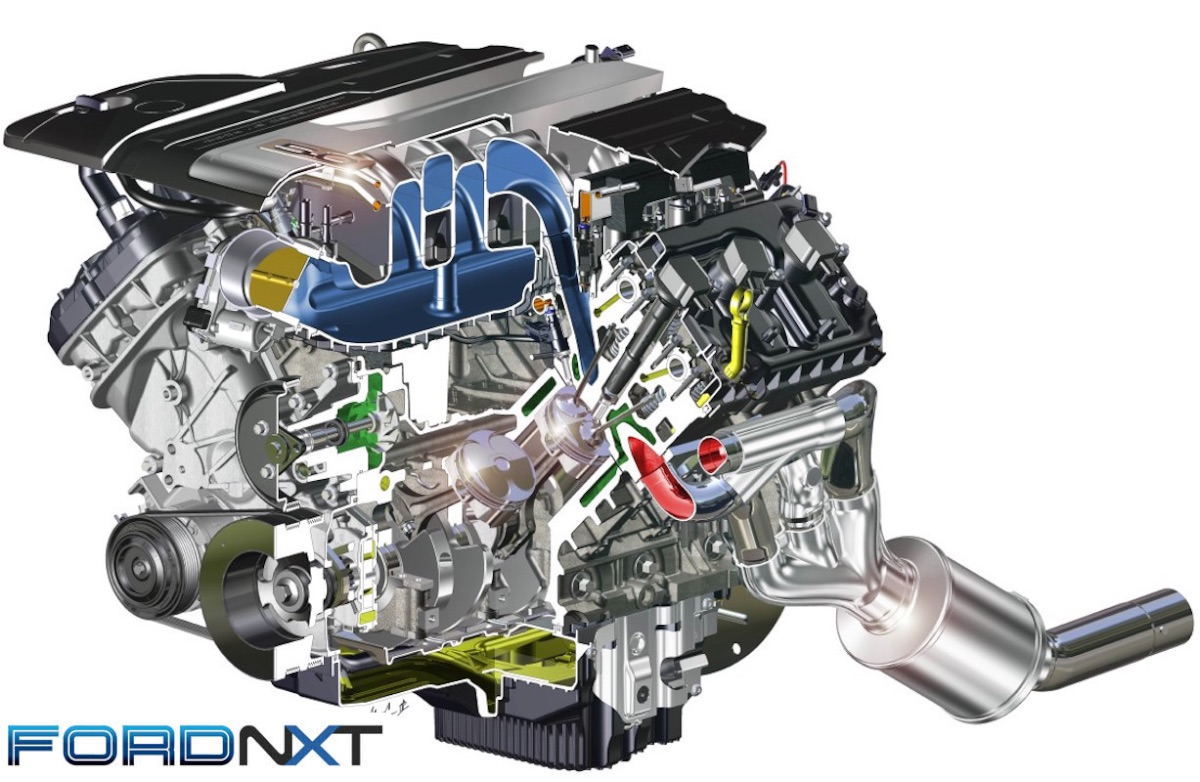 hight resolution of we can t wait to get a look inside the real thing but for now this cutaway is our first look inside the gen 3 coyote 5 0 liter engine which features a