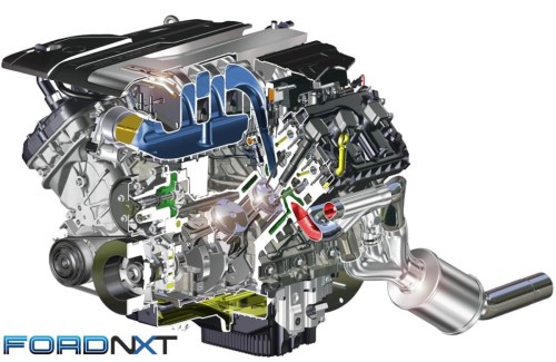 small resolution of we can t wait to get a look inside the real thing but for now this cutaway is our first look inside the gen 3 coyote 5 0 liter engine which features a