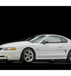 back in the mid 90s the 1995 svt mustang cobra r dominated tracks everywhere albeit rare only 250 units were produced all in white  [ 1200 x 800 Pixel ]